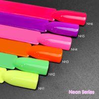 6st Neon Färglack Venalisa Fluorescenssalonglack Slå av UV LED Ljus gel nagellack