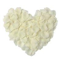 1000 stücke / satz Seide Rose Blütenblätter Künstliche Rosenblume Blütenblatt für Hochzeit Home Hotel Valentinstag Dekoration, Elfenbein