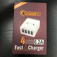 4 포트 빠른 3.0 USB 충전기 EU US US UK UK 플러그 벽 아이폰 삼성 태블릿 휴대 전화 어댑터 빠른 충전