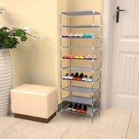 Шкаф для одежды Хранения Многослойные уровни нетканые ткани пылезащитные Обувная стойка Органайзер Шкаф Шкаф