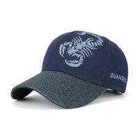 Ball Caps Shinity Привлекайте внимание Скорпиона Вышивка Унисекс бейсбол Мужчины Дышащий солнцезащитный крем Beach Snapback Hats Женская CAP BQ096