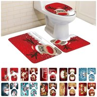 Toilet Seat Covers American Santa Claus Christmas 3-piece Bath Mat Set Rug Soft Non Slip Bathroom Rugs For Kitchen Shower And Toilt