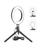 """Novidade Iluminação Mais Recente Design 26cm 10 """"Lâmpada Mesa USB Mini Filha Telefone Makeup de Vapor, LED Circle Selfie Ring Light com Tripé Stand"""