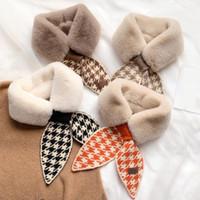 Шарфы 2021 осень осень зима гусеничная мода вязание крючком вязаный шарф женских искусственных меховых воротников шеи теплее для женщин