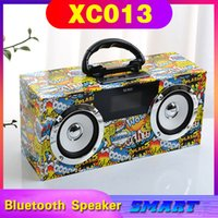 2021 NUEVO XC013 Caja de doble altavoz de doble altavoz Caja de madera Bluetooth Altavoz inalámbrico Al aire libre portátil de luz portátil Subwoofer Audio Soporte creativo