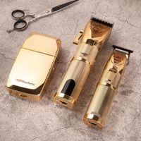 اللاسلكي الكهربائية الشعر المقص ثلاثة نماذج سريع شحن ماكينة حلاقة حلاقة حلاقة الحلاقة الانتهازي الرجال الشعر قطع آلة
