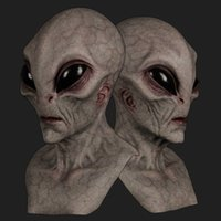 Cadılar bayramı Korkunç Korkunç Korku Alien Supersoft Maskesi Sihirli Ürpertici Parti Dekorasyon Komik Cosplay Prop Maskeleri