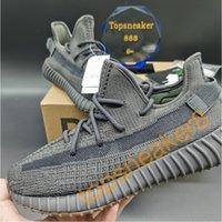 2021 Qualidade superior Kanye West Men Mulheres Correndo Tênis Cinzas Yechheil Criado Oreo Deserto Sábio Terra Linho Asriel Zebra Treinadores Sneakers com caixa