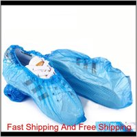 Plastic Waterproof Disposable Shoe Covers Rain Day Carpet Floor Protector Blue Cleaning Shoe Cove qylUXa packing2010