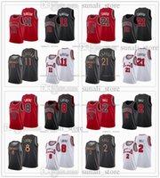 2021 Trade Maglie da basket 21 Alex Caruso 2 Lonzo Ball 11 Demon Derozan Zach 8 Lavine Black Bianco Red Color Camicie sportive traspiranti veloci Invia uomini donne bambini