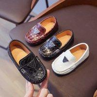 New Vintage Pu Leather Designer Baby Boys Shoes Slip on Weave Plaid Fashion Kids Shoes Boy Formal Dress Shoes Toddler Boy D12102 G0908