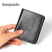 Wallets 100% Genuine Leather Wallet Men Small Mini Ultra Thin Compact Handmade Cowhide Card Holder Short Design Purse