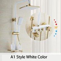 الحمام الفاخرة أسود أبيض الذهبي دش مجموعة مع بيديت الذهب دش مجموعة الحمام ترموستاتي صنبور حوض الاستحمام