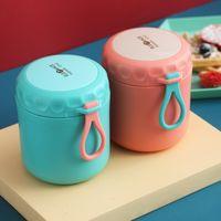 304 из нержавеющей стали изолированная ланч-коробка Pure Color Portable каша суп вакуумная чашка тепла консервация резервуара воды чашки Bento ящики