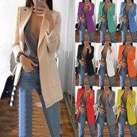 Women's Suits & Blazers Plus Size Women Blazer Jackets 5XL Casual Fashion Basic Notched Slim Solid Coats Office Ladies Outwear Loose Coat Hi