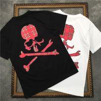 2021 Nova Camiseta Masculina de Mangas Curtas Barrett Caveira Xadrez com Listras Coloridas Camisetas Femininas | Streetwear 2191001661 NW4A.