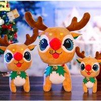새로운 도착 인기 벨 벨벳 엘크 장난감 크리스마스 사슴 인형 선물을주는 아이들 귀여운 크리스마스 장식 HWB8944