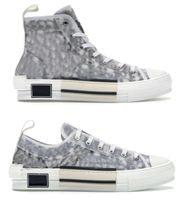 2021 Otantik B23 Yüksek Üst Sneakers Eğik Ayakkabı Erkek Kadın Açık Tasarımcı Rahat Şeffaf Harfler Düşük Eğitmenler Tuval Orijinal Kutusu ile 36-46