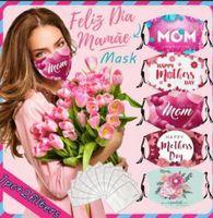 Männer Frauen Gesichtsmasken Erwachsene Paar Glückliche Mutter Tag Party Tragen Sie staubdichte gedruckte Mütter einstellbarer Munddeckel mit 2 Filtern