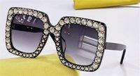 Neue Mode-Design-Sonnenbrille 0148s-Quadrat-Platten-Rahmen eingelegter mit Diamanten einfachen und beliebten Stil UV400-Schutzbrillen