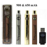 BK Batter Batter Batteries Batterie E Cigarette Vape Pen 900mAh Piles Golden SS Préchauffez les piles VV pour cartouches d'huile épaisse