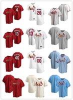 Jersey personnalisé Hommes Femmes JeunesseSaint LouisCardinaux4 Yadier Molina 13 Matt Carpenter 46 Paul Goldschmidt 28 Nolan Arenado Baseball Jerseys