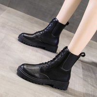 Boots Winter boot with high heels, women's shoes, round-bill leather shoelaces, plus size 122F