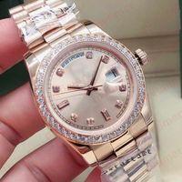 36 мм мода розовые золотые мужчины автоматические механические юбилейные браслеты женские женские женские мужские часы алмазные часы наручные часы 2021