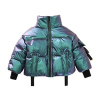 Girls Down Coat Winter Kids Coats Children Outwear Clothes Jackets Hooded Loose Jacket Teenage Child Clothing Wear B8592