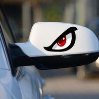3D Simülasyon Köpekbalığı Desen Sticker Göz Dikiz Aynası Araba Yansıtıcı Sticker Motosiklet Sticker P82B