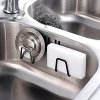 Kitchen Stainless Steel Sink Sponges Holder Hooks Self Adhesive Drain Drying Rack Wall Accessories Organizer