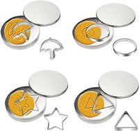 Sugar Honeycomb Cake Biscuit Moulds 6-Piece Set Full Kit Candy Baking Pastry Tools Christmas Round Pentagonal Star Umbrella-shaped Triangle