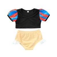 Filles maillot de bain pull mignon deux pièces ouverte vêtement d'été vêtements de maillot de bain plages enfants princesse baignade costume maillot de bain g82ahbv