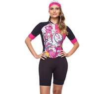 2021 Summer Womens Short Sleeve Cycling Jersey Set Skinsuit Jumpsuit Maillot Bicycle Ropa Ciclismo Gel Pad DN013