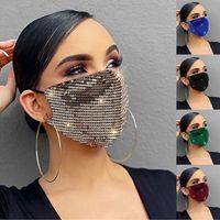 Pullu Maske Pamuk Yaz Güneş Kremi Bling Payetli Koruyucu Toz Geçirmez Ağız Maskeleri Glitter Yüz Kapak