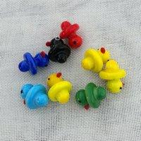 Accessoires fumeurs Casquettes de glucides en verre Cactus Jaune Duck Verre Bubble pour 20mm OD BANGER BANGER HAT CAP Nails DCC01