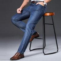 Jeans Menores KK Lufaina Hombres 2021 Marca Verano Thin Thin Transpirable Mid Straight Pantalones Regulares Vintage Ropa para hombre