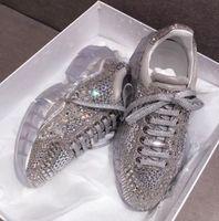 2021New Spring New Hot Vendita Crystal Strass Sneakers Sneakers Piattaforma Casual Scarpe Casual Alta qualità Bling Silver Bling Calzature femminili