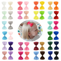 Bebek Kız 2.75 inç Renkli Tokalar Grogren Kurdele Yaylar Ile Klip Çocuk Firkete Saç Klipleri Güzel Huilin C45