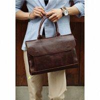 Ретро мужской портфель Crazy Change кожаный ноутбук сумочка деловые люди мешок сумки кожаные ноутбуки сумка для ноутбука R8KV #