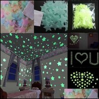Wall Décor & Gardenwall Stickers Glow In The Dark Decal Baby Stuff Bedroom Home Decor Color Stars Luminous Fluorescent 100Pcs Drop Delivery