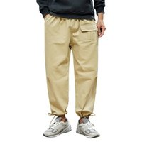 Мужские брюки Sagace 2021 карманный спортивный досуг упругих хлопчатобумажных росписей Свободные FIT Джинсовые брюки бренд мода одежда