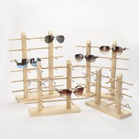 Multi Layers Wood Sunglass Display Rack Shelf Eyeglasses Show Stand Jewelry Holder for Multi Pairs Glasses Showcase Dropshipping 57 W2