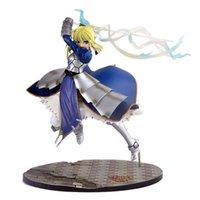 """Anime Kader Kalmak Gece Saber Lily Excalibur Kader / Kalma Gece PVC Action Figure Model Koleksiyonu Şekil Oyuncaklar 10 """"25 cm Y0705"""