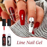 Prego Gel Lilycute 5ml Art Line Kit Polonês 14 Cores para UV / LED Paint Nails Desenho DIY Pintura Verniz Ferramenta de Liner