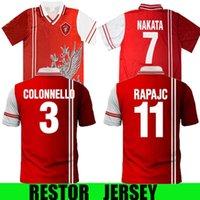 1998 1999 بيروجيا الرجعية لكرة القدم جيرسي 98 99 Associazione Calcistica Perugia Calcio Nakata Rapachc Petrashi خمر كلاسيكي لكرة القدم