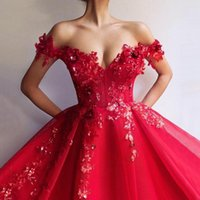 Other Wedding Dresses 2022 Luxury Red Sweetheart Appliques Dress Short Sleeve Stain Lace Ball Gown Bridal For