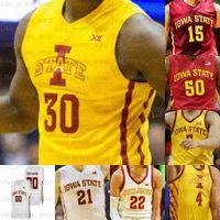 Custom Iowa State Cyclones Basketball Jerseys George Conditt IV Tyrese Haliburton Rasir Bolton Joven Griffin Jacobson Nixon