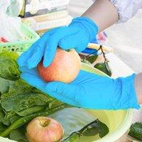 Light Latex в нитрильных проколах устойчивые перчатки с покрытием Садовая работа Одноразовые работы Сверхмощное защитное безопасность