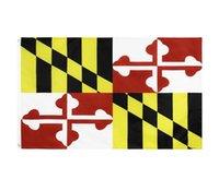 Maryland State Flag MD State Flag 3x5ft Banner 100D 150x90cm Polyester Messing Tüllen Benutzerdefinierte Flagge WWA127